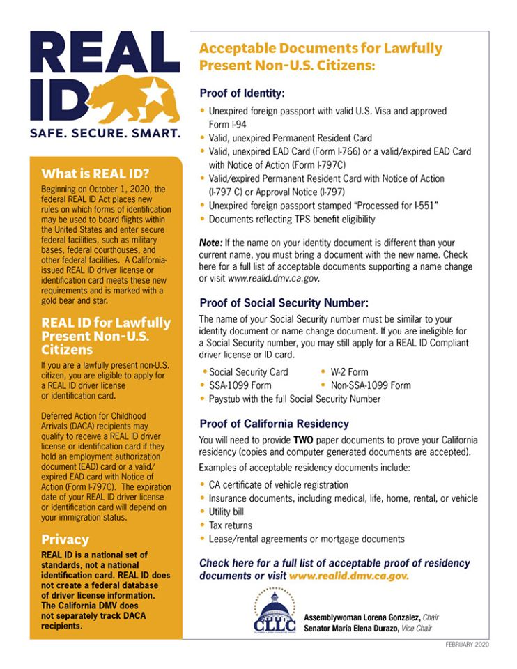 Assemblymember Luz Rivas - REAL ID Act