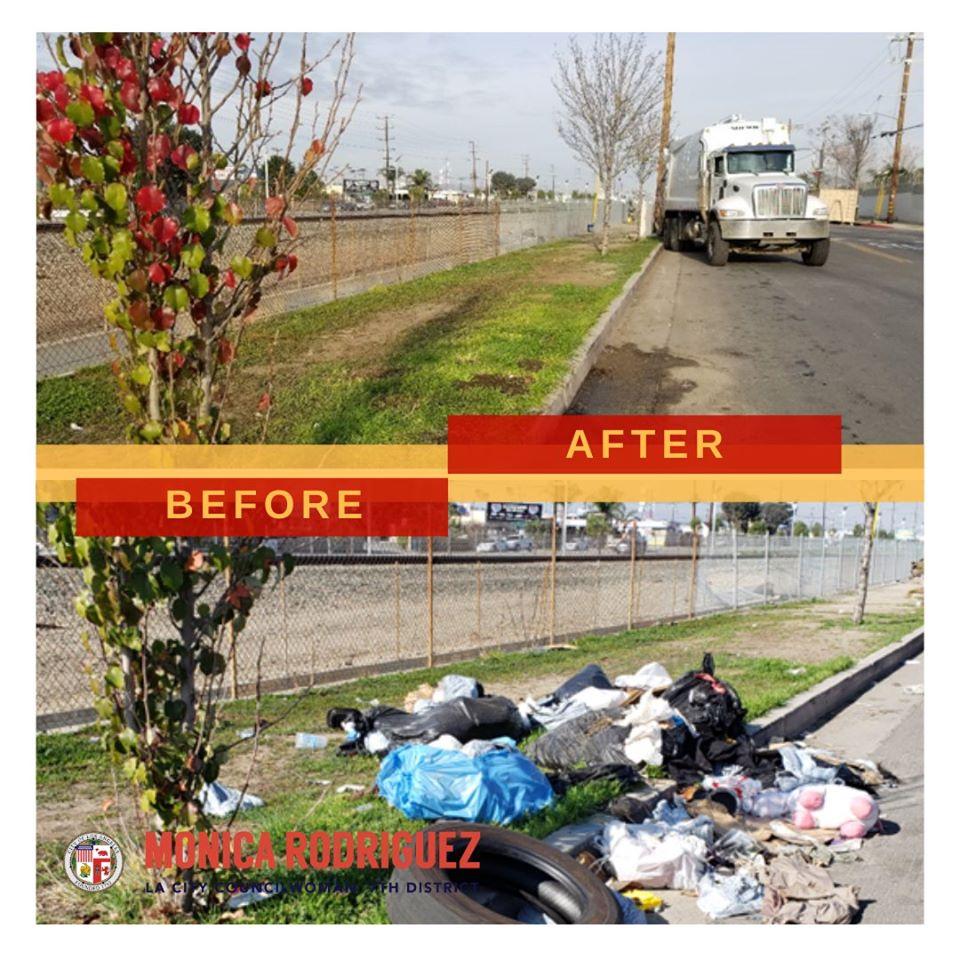 Councilwoman Monica Rodriguez - Illegal Dumping on San Fernando Road