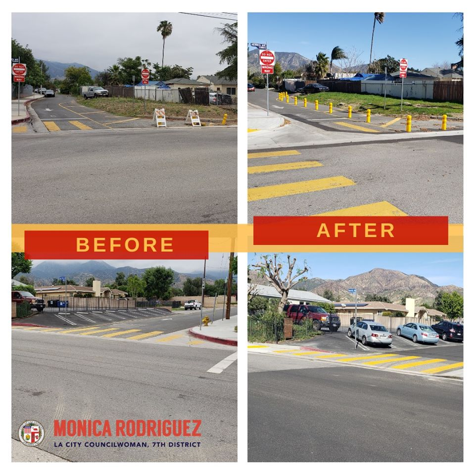 Councilwoman Monica Rodriguez - curb cuts at the intersection of Herrick Ave. & Ararat St.