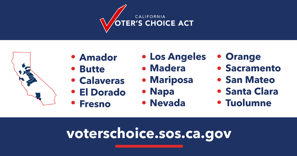California Secretary of State - Vote Centers in 15 Counties