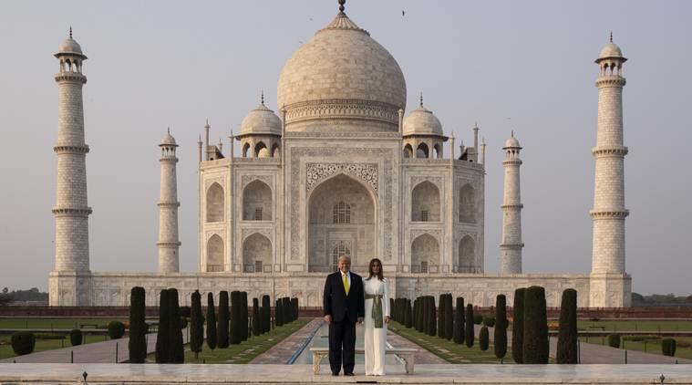 US President Donald Trump at Taj Mahal, India