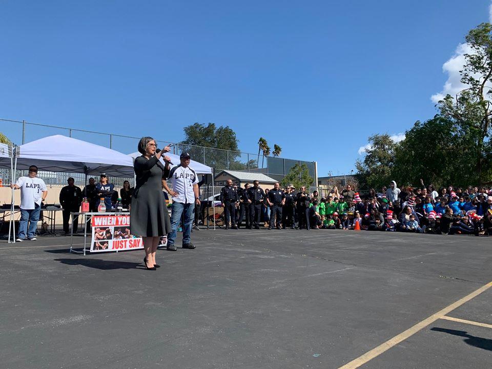 Councilwoman Monica Rodriguez - Say NO Rally at Pacoima