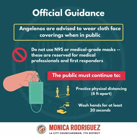 Councilwoman Monica Rodriguez - Surgical and N95 masks for medical workers