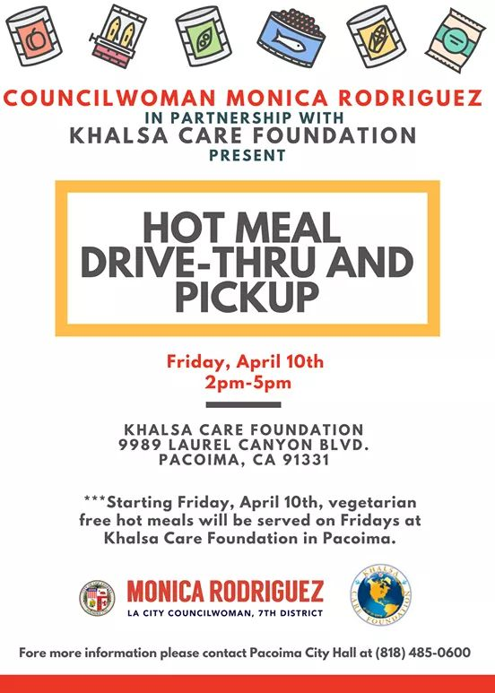 Councilwoman Monica Rodriguez in Partnership with the Khalsa Care Foundation Present