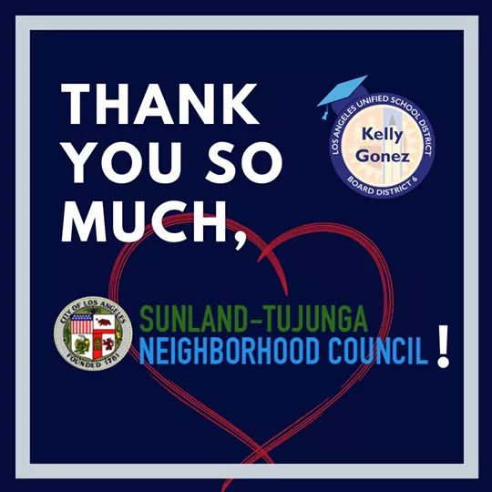 The Sunland-Tujunga Neighborhood Council STNC generously Donated to Grab & Go Meal Center