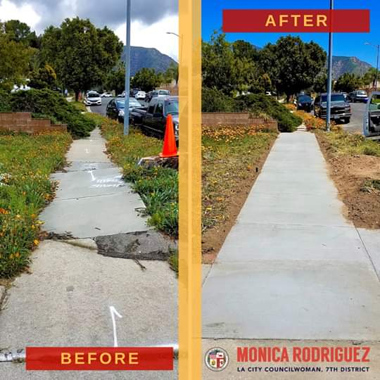 Councilwoman Monica Rodriguez - New and Improved Sidewalks Located at the 3700 Block
