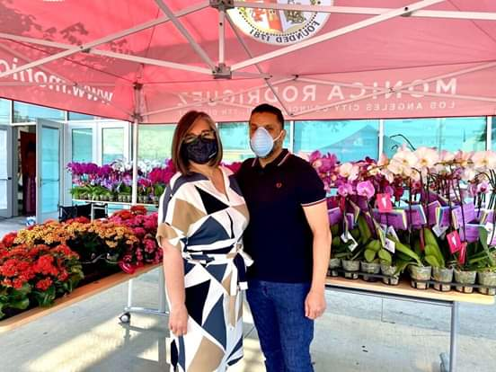 Councilwoman Monica Rodriguez - Mother's Day Flower Giveaway