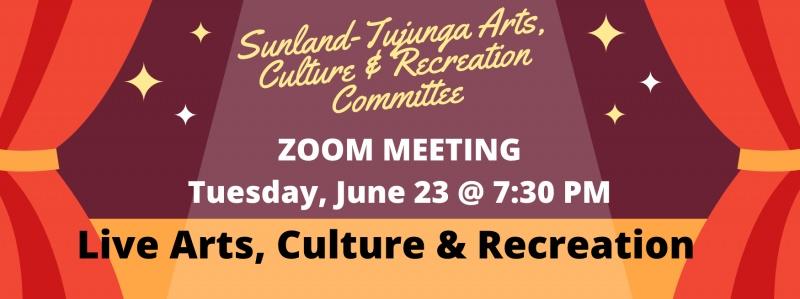 Special Arts, Recreation & Culture Meeting