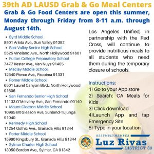 LAUSD Grab & Go Food Centers