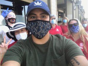 Distributed Around 150 Free Masks