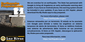 My Shake App for Earthquake Alerts