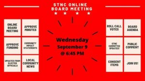 STNC Board Meeting is Wednesday