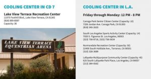 From Councilwomam Monica Rodriguez Desk - 5 Cooling Centers
