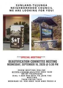 Special Beautification Committee Meeting