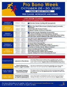 Annual Pro Bono Week Free Legal Fair