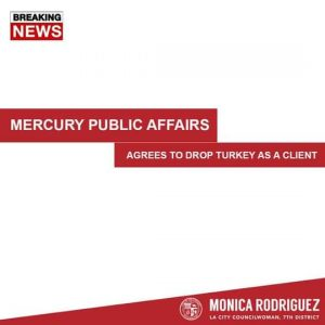 Mercury Public Affairs has Severed its Ties with the Republic of Turkey