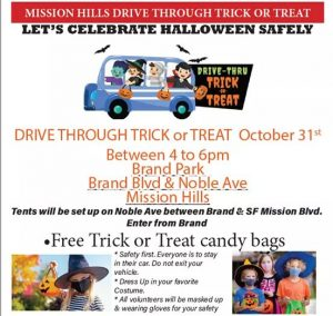 Drive-Through Trick or Treat on October 31st, 2020
