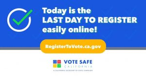 FINAL day to register to VOTE