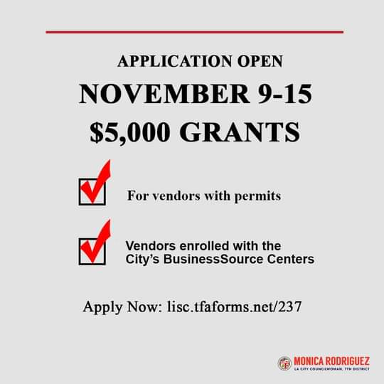 COVID-19 Relief Grant is Now Available to Eligible Street Vendors