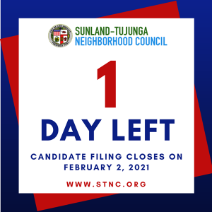 1 Day Left for Candidate Filing