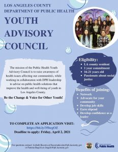 3rd Cohort of the Youth Advisory Council