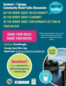 Sunland Tujunga Water Talk
