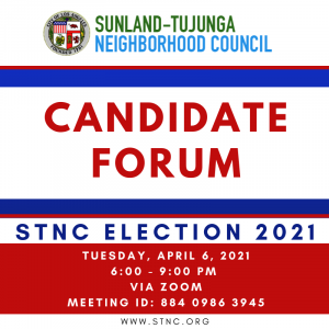 Virtual Candidate Forum next Tuesday at 6 PM