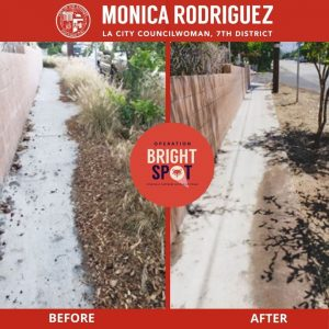 Completed Cleaning on Foothill Boulevard through Sunland