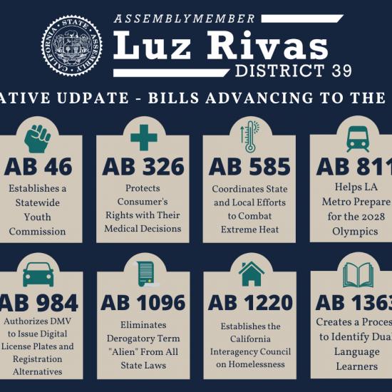 Proud of the Legislative Package