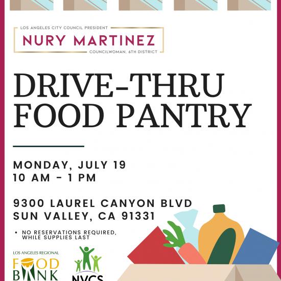Sponsoring a Drive-Thru Food Pantry
