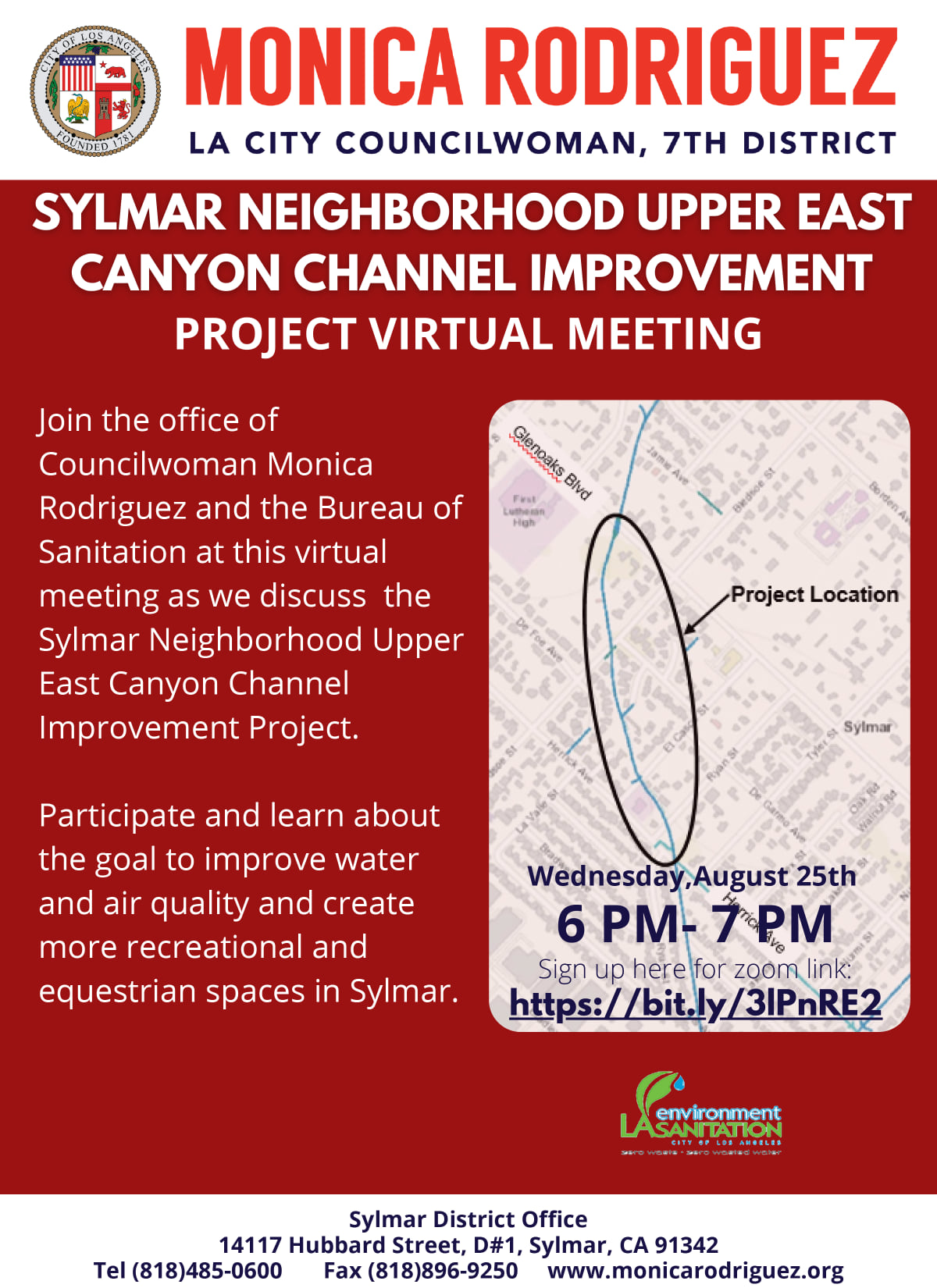 discuss the Sylmar Upper East Canyon Channel Improvement Project