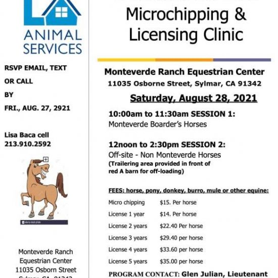 LA Animal Services Microchipping & Licensing Clinic