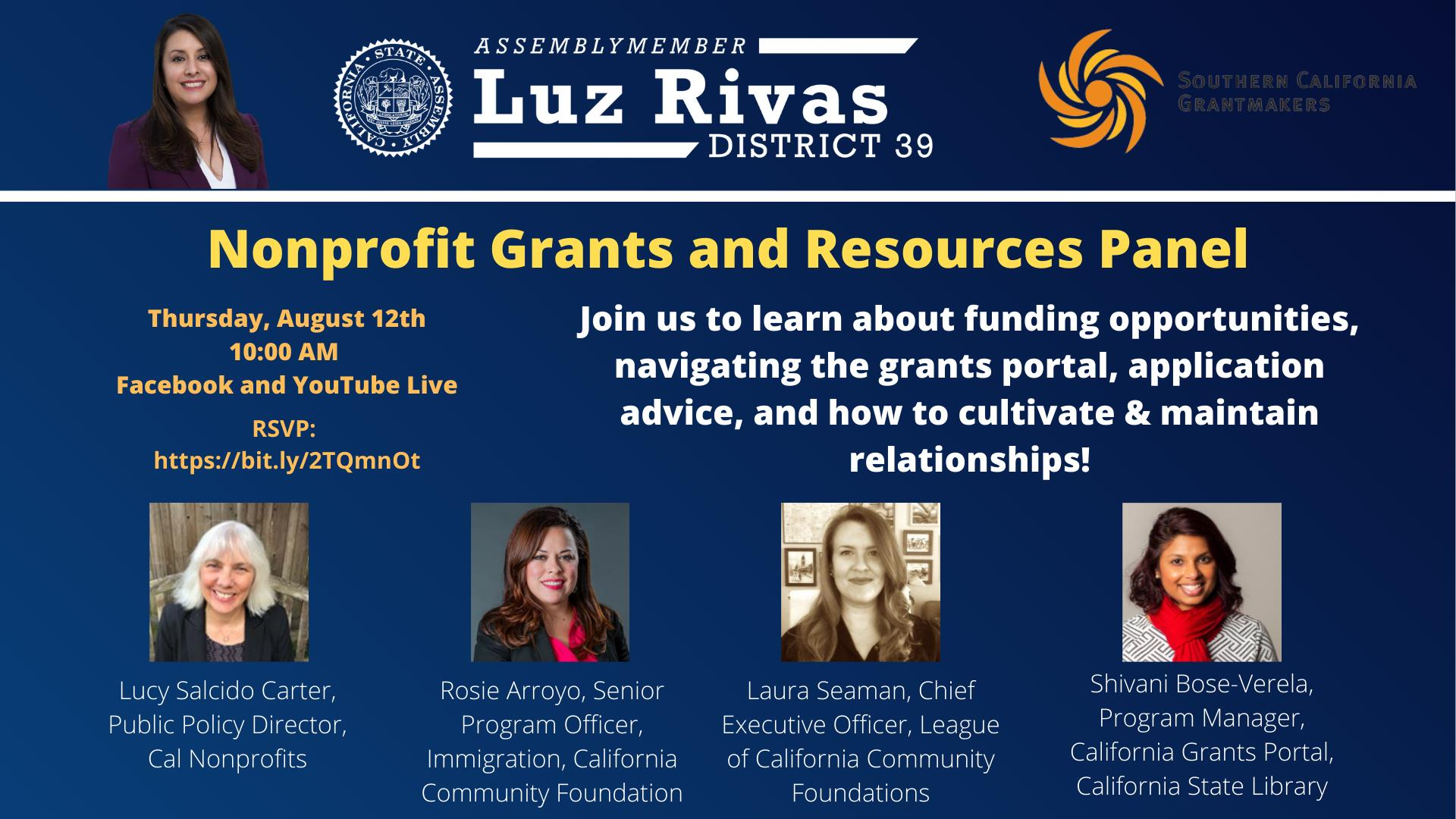 Nonprofit Grants and Resources Panel