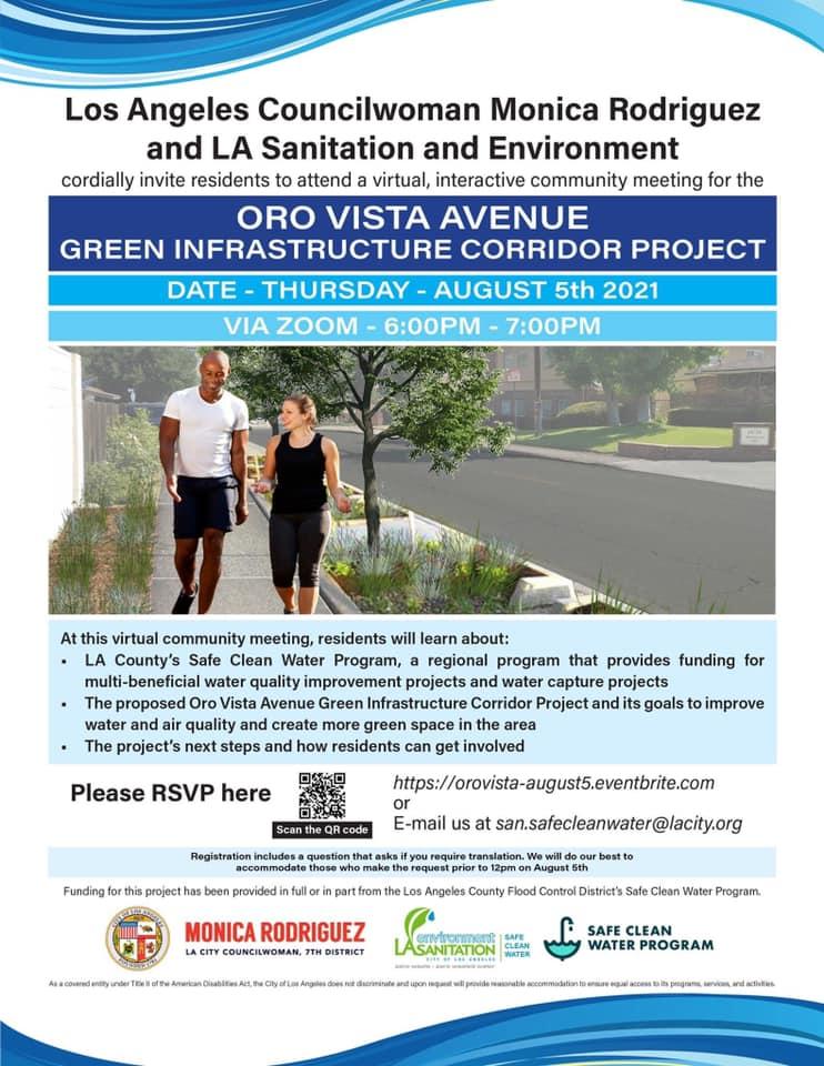 Oro Vista Avenue Green Infrastructure Corridor Project