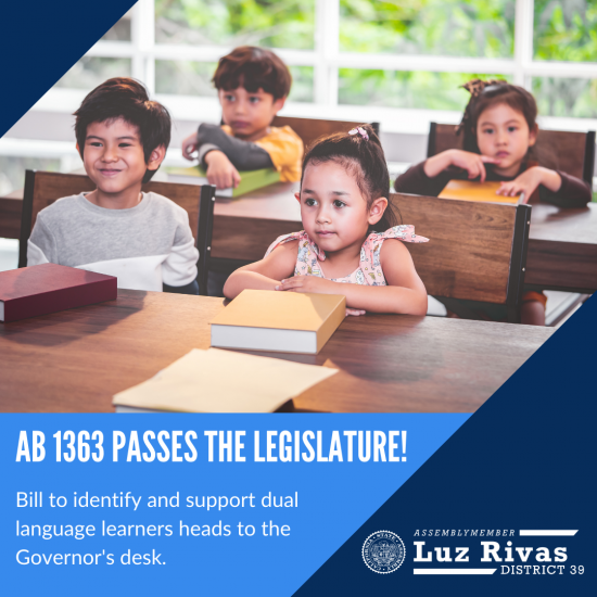 Bill to Identify and Support Dual Language Learners
