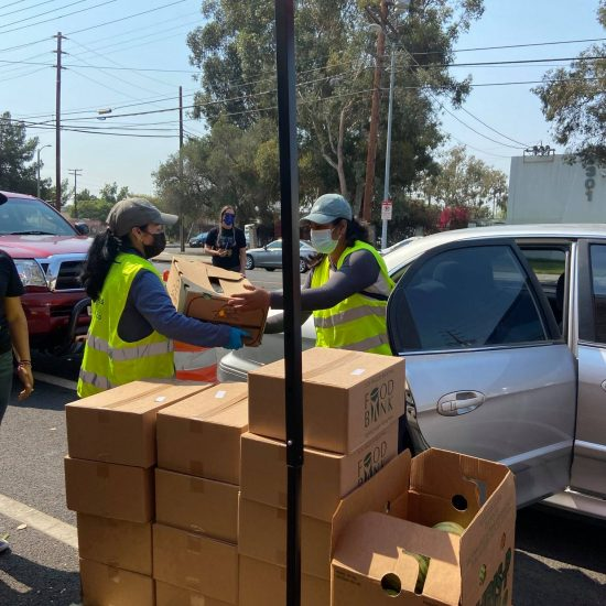Drive-Thru food Pantry in Sun Valley
