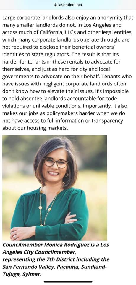 Editorial Wrote with LA County Board