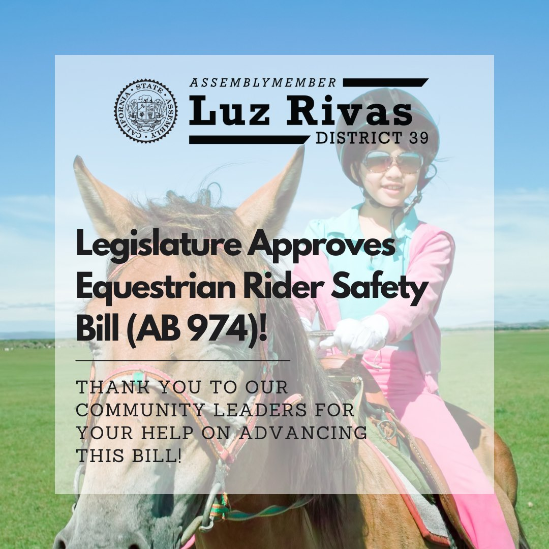 Equestrian Rider Safety Bill was Approved