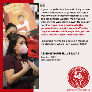 Garment Worker Protection Act