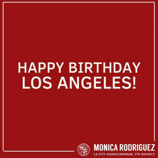 Los Angeles A Happy 240th Birthday