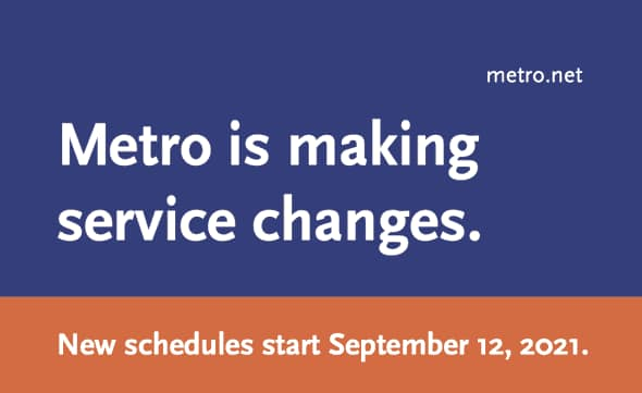 Metro is Making Service Changes