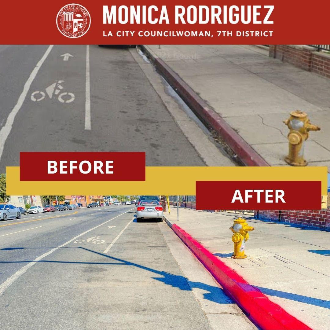 Repaint Faded Red Curbs on Nordhoff Street
