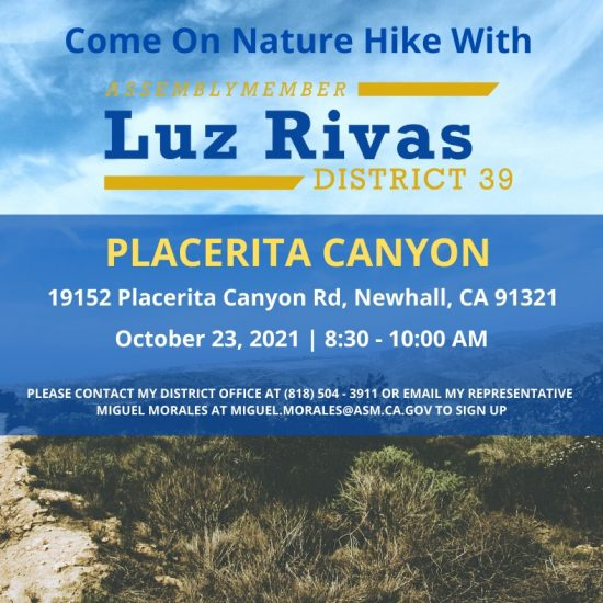 3rd Annual Nature Hike at Placerita Canyon State Park
