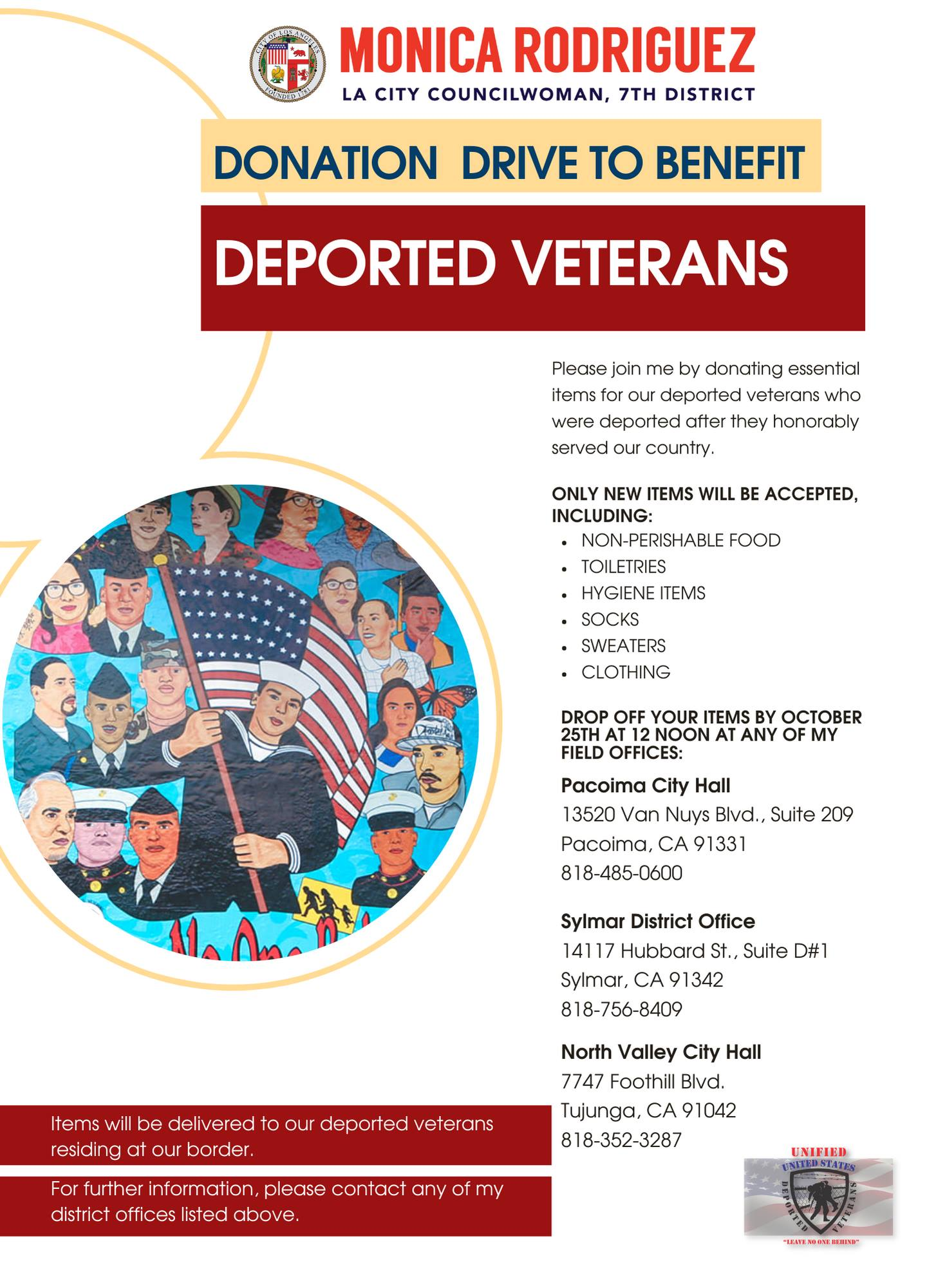 Donation Drive to Benefit Deported Veterans