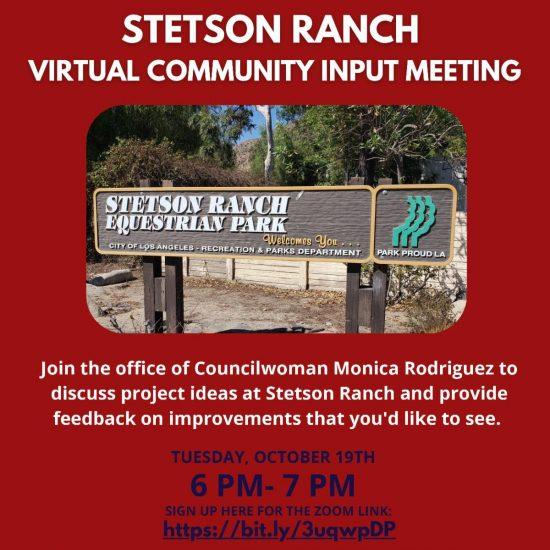 Stetson Ranch Park Community Meeting