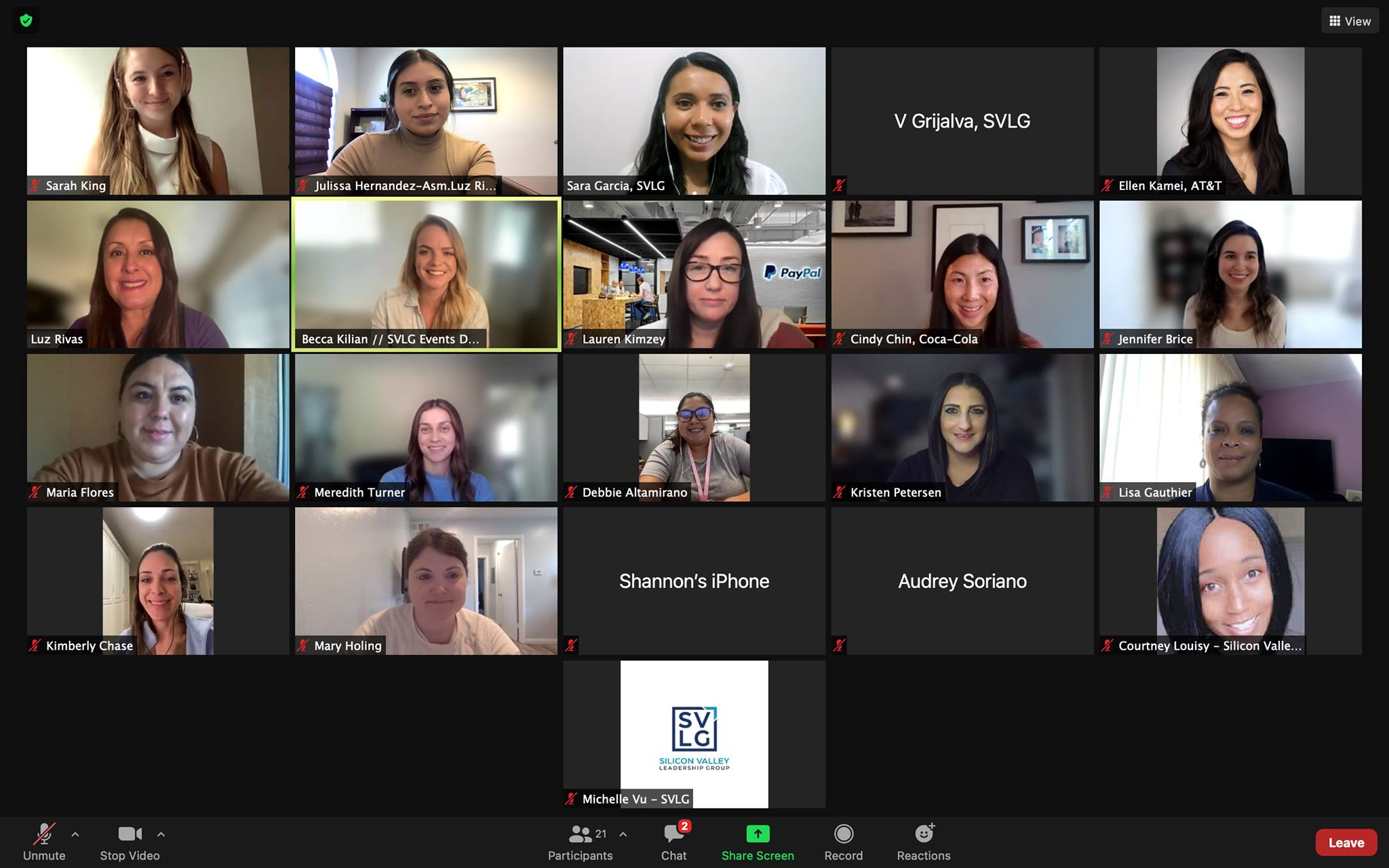 Women's Leadership Roundtable with Silicon Valley Leadership Group